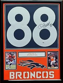 Demaryius Thomas Signed Autographed Jersey Number Denver Broncos Framed PSA DNA