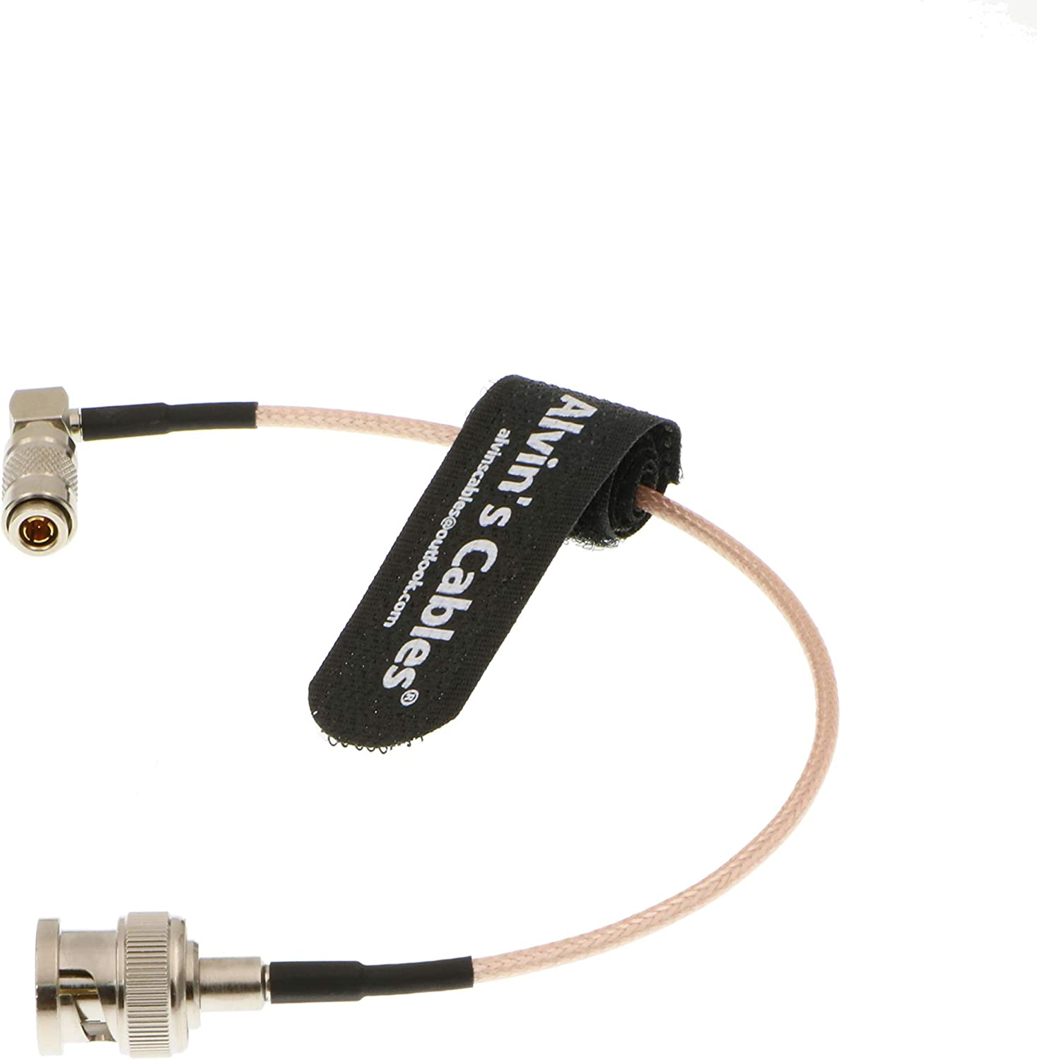 Alvins Cables Blackmagic DIN 1.0//2.3 Right Angle to BNC Male 75ohm RG179 HD SDI Cable 1M