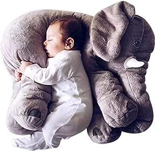 GRIFIL ZERO Big Elephant Stuffed Animal Plush Toy 25 Inches Cute XXL Size Grey Elephant Toy (Gray)