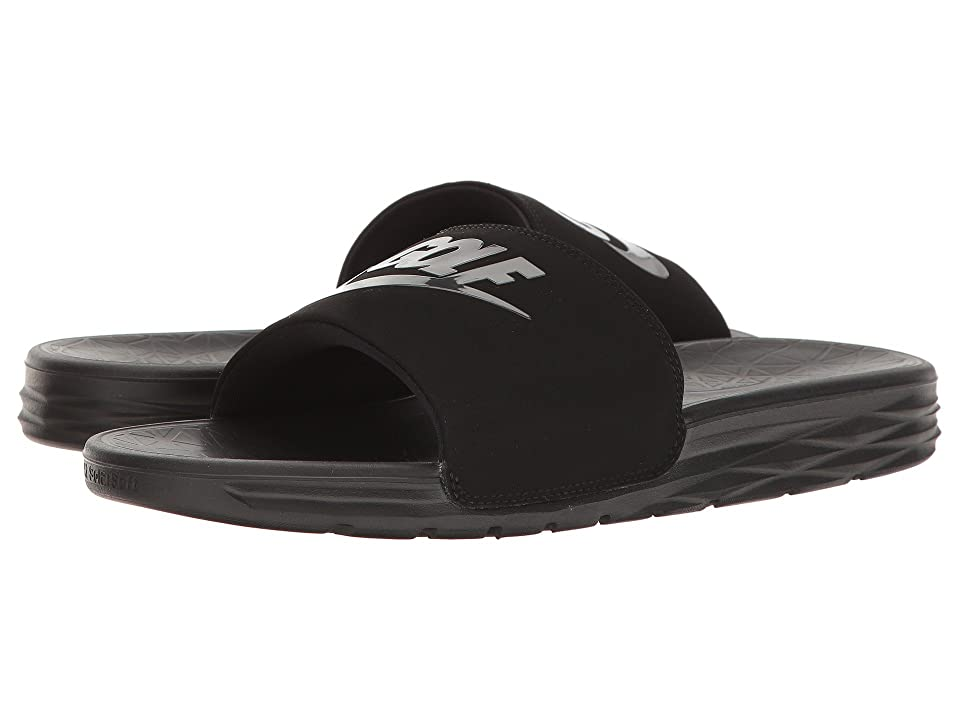 Nike Golf Benassi Solarsoft 2 G (Black/Anthracite) Golf Shoes