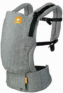 Tula Free-to-Grow Lino Ash, babydrager in breedte en hoogte verstelbaar, voor baby's van 3,2 tot 20,4 kg, zonder babykusse...