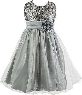 51d5846a514bf Live It Style Filles à Paillettes Fleur Demoiselle d honneur Mariage Tenue  habillée fête Robe