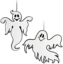 DII Indoor and Outdoor Reversible Foam Halloween Hanging Door Decorations and Wall Signs,  For Home, School, Office, Party Decorations, Set of 2 - Ghost