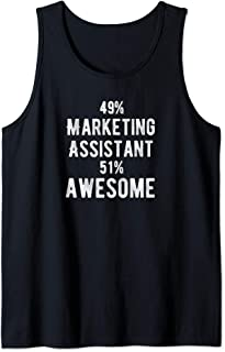 49% Marketing Assistant 51% Awesome - Job Title Tank Top
