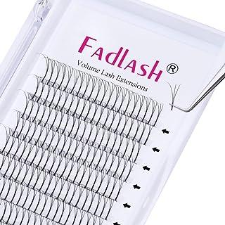 Voorgemaakte Russische Volume Lashes 3D 0.10mm Dikte D Curl 12mm FADLASH Lengte Premade Wimperverlengingen Premade Fans