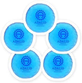 Small Round Gel Ice Packs with Cloth Backing for Hot or Cold Therapy - Perfect for Wisdom Teeth, Tired Eyes, Headaches, Kids Injuries & Baby Aches (Flexible, Reusable, Multipurpose 5-Pack)