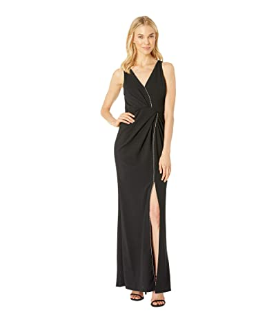 Adrianna Papell Halter Long Dress (Black) Women