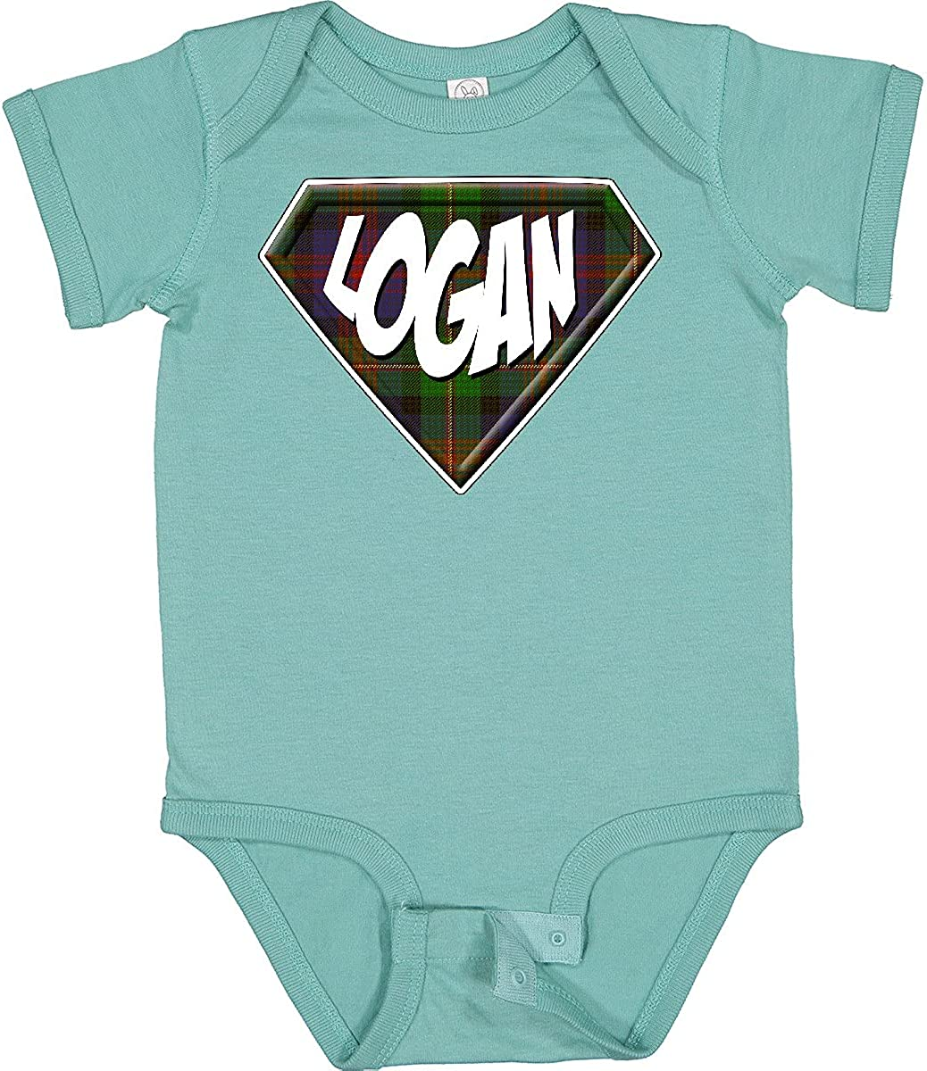 Import inktastic Logan Tartan Surprise price Infant Superhero Creeper