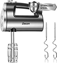 Hand Mixer Electric 6 Speed Plus Turbo Handheld Mixer 300W Powerful Stainless Steel Mixer with Easy Eject Button, Includes 2 Beaters & 2 Dough Hook