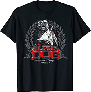 Alpha Dog Amerian pit Bull Terrier APBT American Bully Shirt