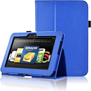 ACdream Kindle Fire HD 7 2012 Case, Folio Leather Cover Case for Kindle Fire HD 7 2012 Version with Auto Wake Sleep Feathe...