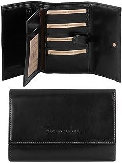 Tuscany Leather Esclusivo portafogli in pelle da donna 4 ante Nero