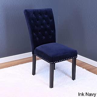 Monsoon Markelo Tufted Velvet Dining Chairs (Set of 2) Dark Blue
