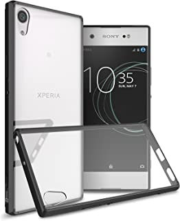 Sony Xperia XA1 Ultra Case, CoverON [ClearGuard Series] Hard Clear Back Cover with Flexible TPU Bumpers Slim Fit Phone Cover Case for Sony Xperia XA1 Ultra - Clear w/Black Trim