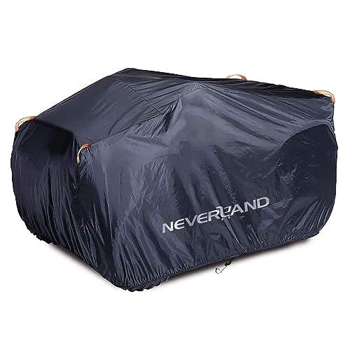 """NOVSIGHT Housse de Protection pour Quad Moto ATV en 190T Polyester Noir Enduit Argent Anti-UV Taille XXXL 256x110x120CM 100.79""""x43.31""""x47.24"""""""