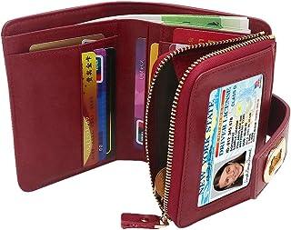 KiyomiQaQ Portefeuille Femme RFID /& NFC Blocage Boucle Porte Monnaie Fille Porte-cartes Long Chequier Peti Sac /à Main Bandouli/ère Zipp/é Antivol Pochette Protecteur