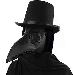 Skeleteen - Máscara de peste medieval, cuero sintético,