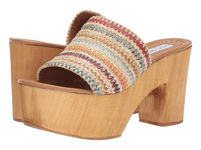Vintage Sandal History: Retro 1920s to 1970s Sandals Steve Madden Playdate Heeled Sandals Raffia High Heels $79.95 AT vintagedancer.com