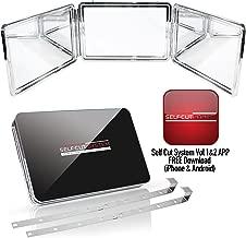 SELF-CUT SYSTEM: Perfecting Self Grooming - Black Lambo 3-Way Mirror with Free Educational Mobile App