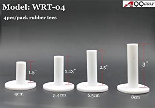 A99 Golf Rubber Golf Tee White 4pcs with Different Size