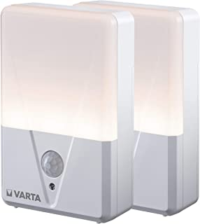 VARTA Lampka nocna z czujnikiem ruchu (zasilana bateriami), funkcja ruchu, moc światła LED do 17 lumenów