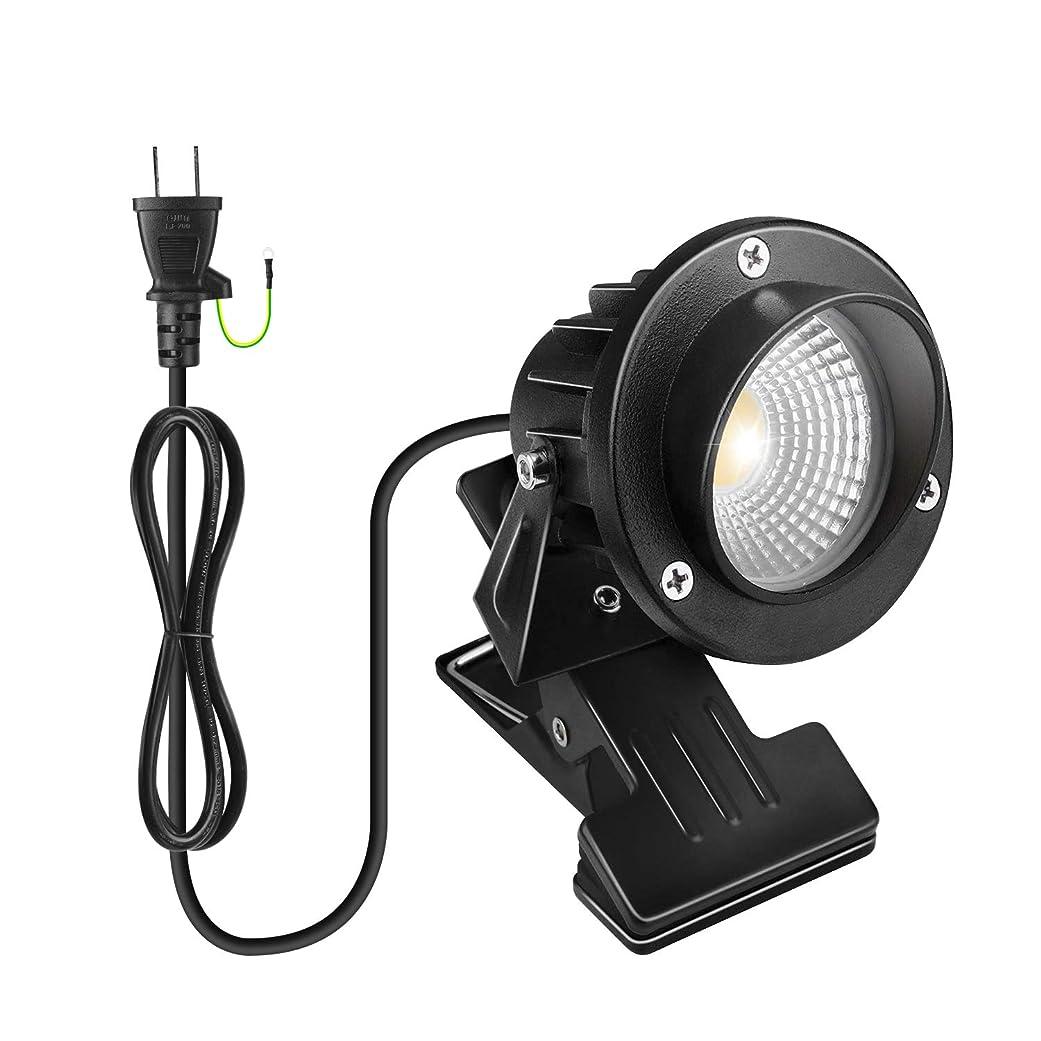 迷惑謎寝室LEDクリップライト 電球色 防水 7W コード長1.5m 360度回転 エクステリアライト 梅雨対策 看板用 黒板用照明 店舗看板用 PSE認証済み