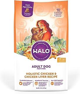 Halo Natural Dry Dog Food, Chicken & Chicken Liver Recipe, 14-Pound Bag
