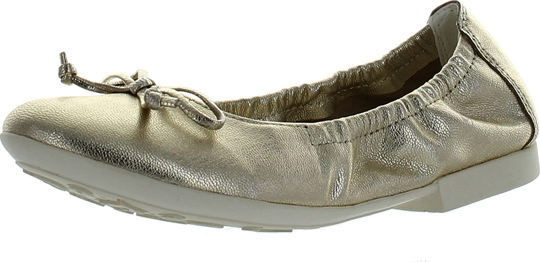 Geox Girls Kids Plie Fashion Flats Shoes,Gold,35