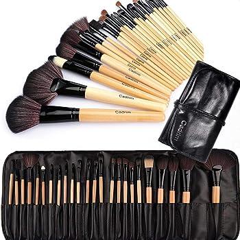 Brochas de Maquillaje,Cadrim 24pcs Maquillaje Profesional Pinceles ...