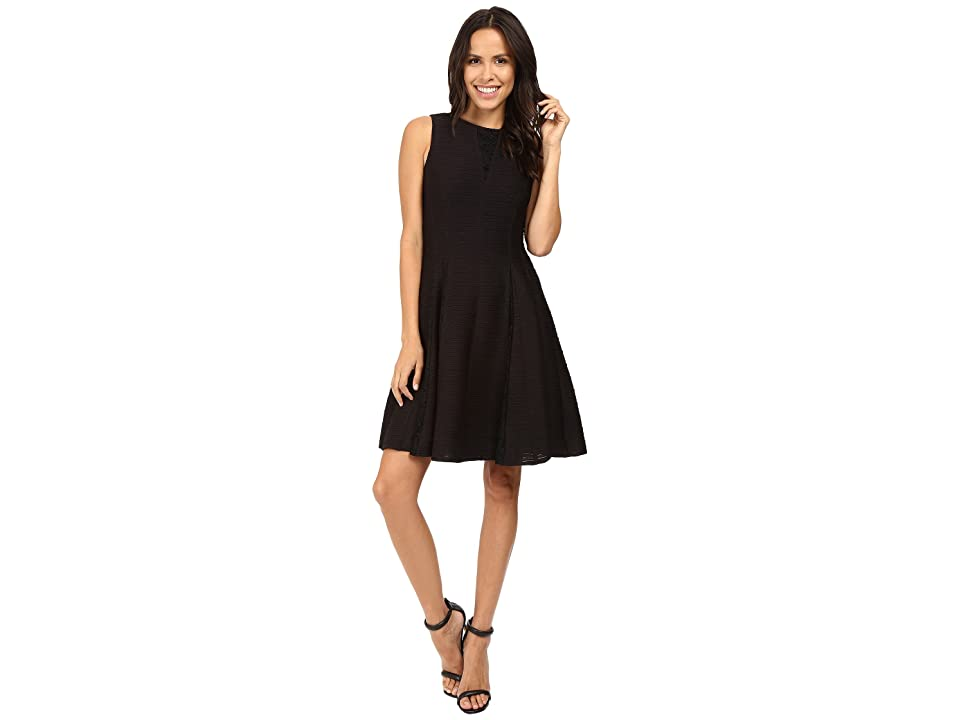 Taylor Corded Knit w/ Lace Inserts (Black) Women