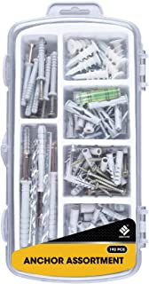 Zenith Hardware Supplies Drywall Anchors W/ Screws Assortment Kit. Sheetrock Wall Anchor Hardware Set. Large Heavy Duty 50 75 LB Self Drilling - Pictures TV Baby Furniture Household Maintainance Tools