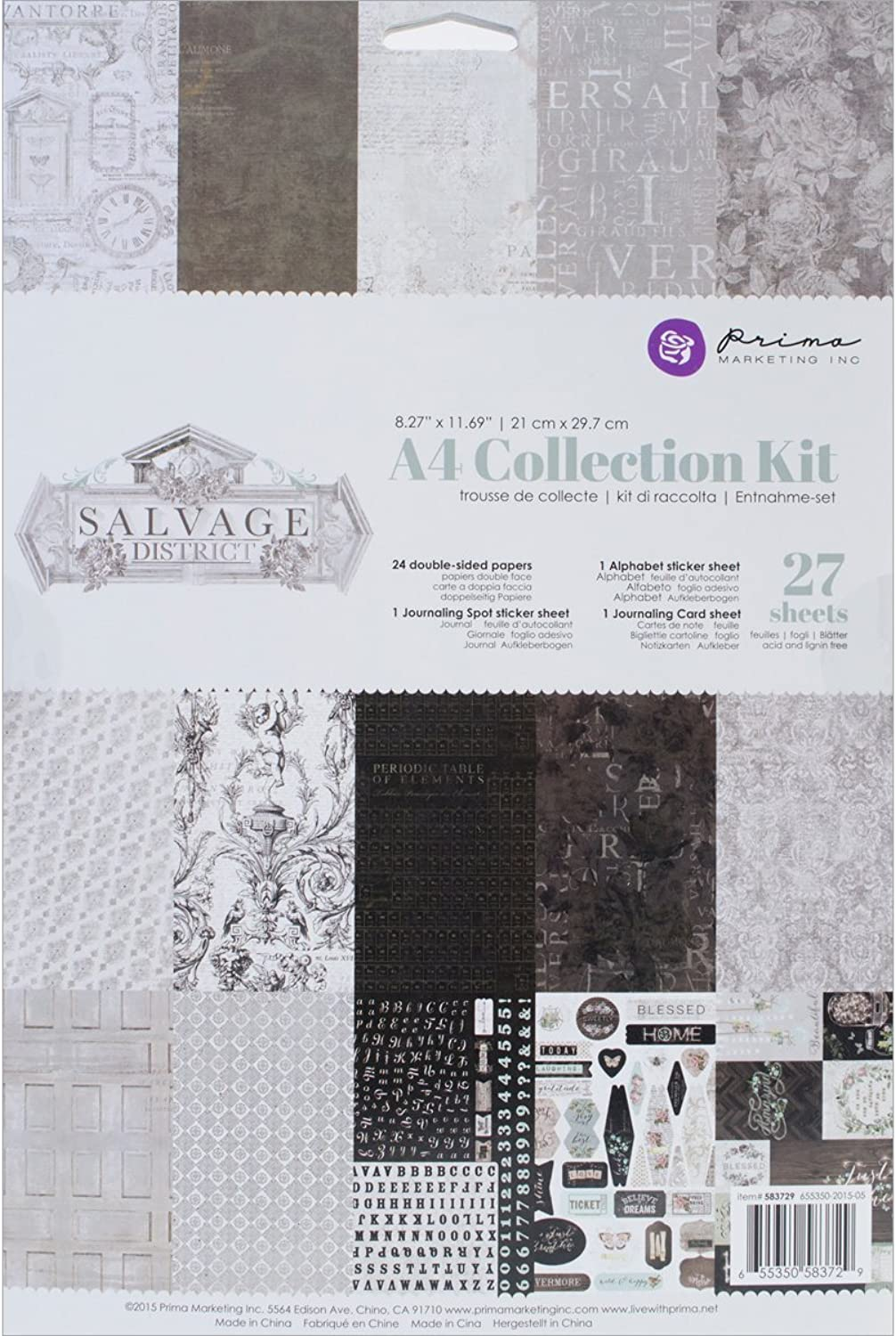 Unbekannt Prima Marketing Collection Kit a4-Salvage District B01AMLHV9Y  | Auf Verkauf