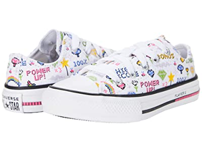 Converse Kids Chuck Taylor All Star Ox (Little Kid/Big Kid) (White) Girls Shoes