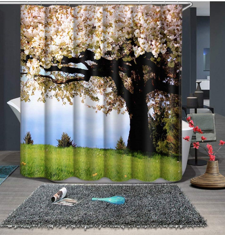 envío gratis WIXIJAWR árboles Hermosos Imprimir Estilo Moderno Moderno Moderno Tela Impermeable Cuarto De Bao Cocina Cortinas De Ducha Cortinas De La Ventana De La Ducha 3D, (W) 130X (H) 180Cm  moda