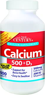 21st Century Calcium 500 Plus D Caplets, 400 Count