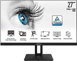 MSI PRO MP271PDE - 68,6 cm (27 Zoll), LED, IPS-Panel, Höhenverstellung, Pivot, speaker, HDMI