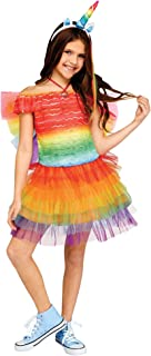 Fun World Ruffle Unicorn Costume, Medium 8 - 10, Multicolor