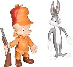 LOONEY TUNES Action Figures Bugs Bunny & Elmer Fudd Bendable Pair lt-4805