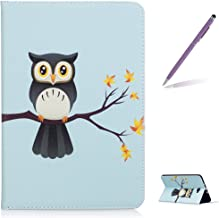 Trumpshop Tablet PC Protective Case for Samsung Galaxy Tab A 10.1 Inches (T580) + Cute Owl + Premium PU Leather Flip Wallet Cover Bookstyle Stand Feature Shockproof