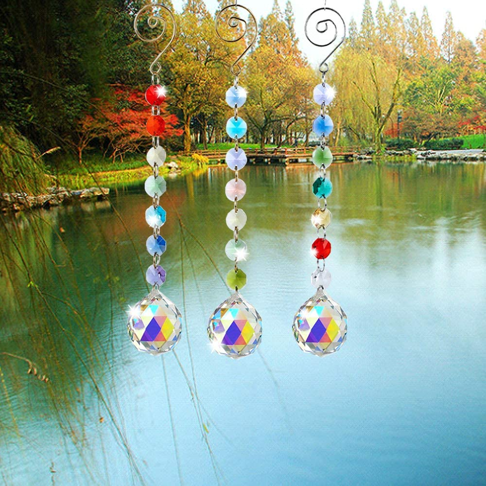 SunAngel Colored Max 79% OFF Crystals Prisms Ornament Chakra Octogon Hanging Choice
