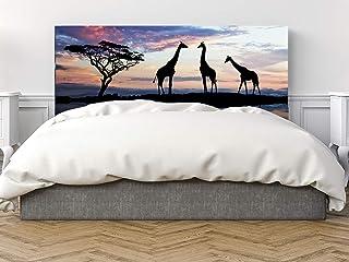 Cabecero Cama PVC Girafas 135x60cm | Disponible en Varias Medidas | Cabecero Ligero, Elegante, Resistente y Económico