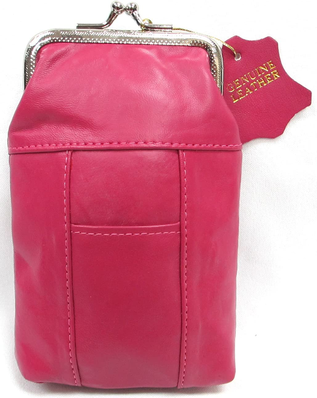 Genuine Soft Leather Cigarette half Case 2pc + for Pink $11.99 Black Outlet sale feature