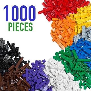 1000 Piece Building Bricks Set- 10 Classic Colors...