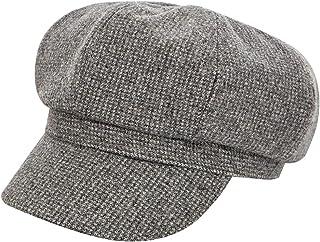 MINAKOLIFE Womens Classic Wool Houndstooth Check Newsboy Caps Visor 8 Panel Gatsby Apple Cabbie Hat