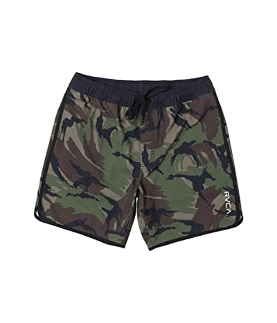 RVCA Eastern Elastic Shorts (Green Camo) Men