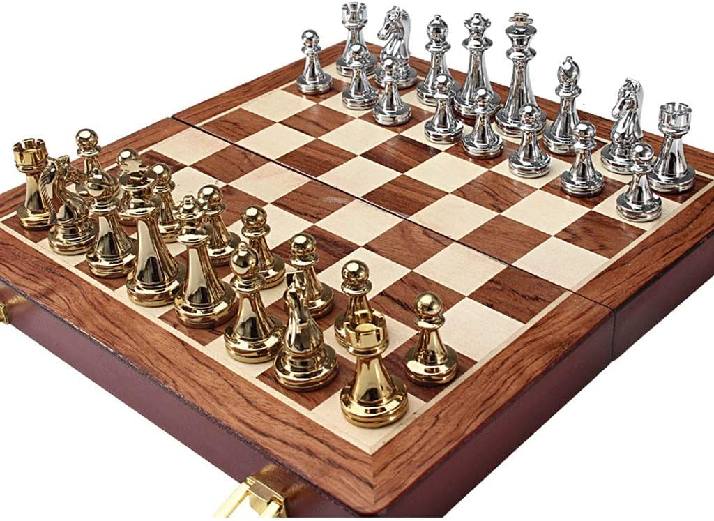 Chess Set-126in Zinc Alloy Folding with Indefinitely specialty shop Metal Set Ch
