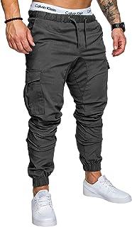 Men Cargo Trousers Jogger Pants Casual Sports Slim Fit Gym Jogging Bottoms M-3XL