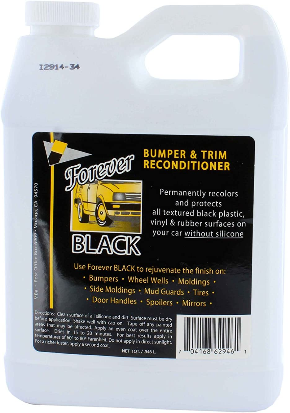 Forever Black Bumper 32oz. Direct stock discount Trim Conditioner Courier shipping free shipping