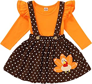 Chriatmas Outfits Toddler Baby Girl Skirts Sets Reindeer Ruffle Overalls Suspender Dress Fall Winter Clothes 1-6T