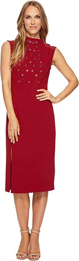 Ivanka Trump - Sleeveless Hardware Midi Dress